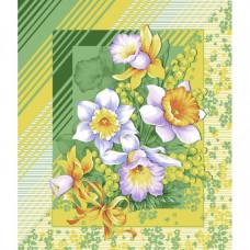 """Вафельное полотенце """"Утренние цветы"""""""