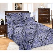 """Ткань бязь """"Пейсли"""" фиолетовый 220 см (в розницу от 1 метра на отрез)"""